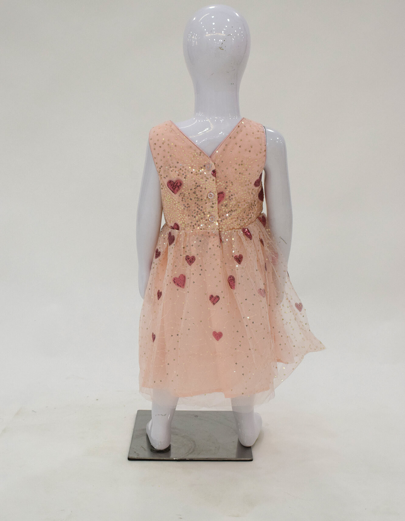 Frock Formal For Girls Pink Heart With Sequence Online In